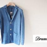 ドルモア|Drumohr|リネンニットジャケット|ブルー|48