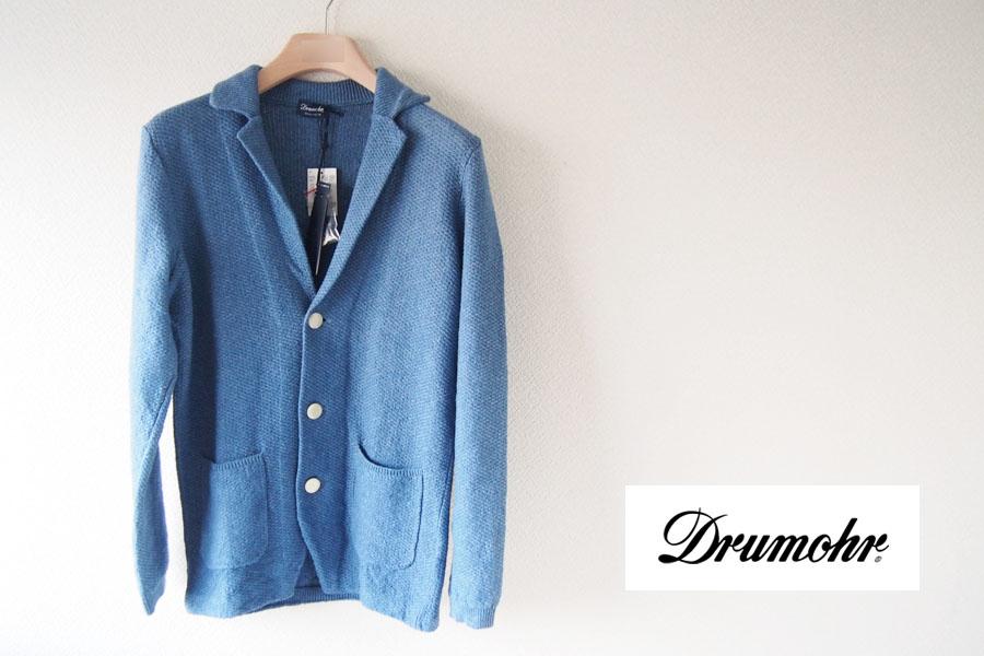ドルモア|Drumohr|リネンニットジャケット|ブルーイメージ04