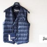 ヘルノ|HERNO|ダウン&フェザー シャイニーナイロンダブルジレ|PI0334U|ネイビーイメージ01