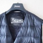 ヘルノ HERNO ダウン&フェザー シャイニーナイロンダブルジレ PI0334U ネイビーイメージ02