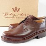 ブダイシューズ|Buday Shoes|プレーントゥダービー|ダークブラウン|6.5|ブタペストラスト