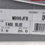 スニーカー M996JFB - Made in the USA フェード ブルー fade blueイメージ09