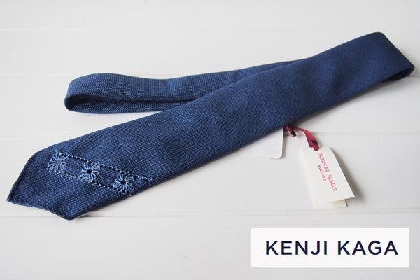 ケンジカガ|Kenji Kaga|ハンドエンブロイダリーウールネクタイメインイメージ