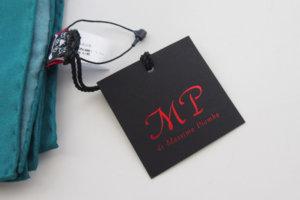 マッシモピオンボ Mp Massimo Piombo プリントシルクスカーフ ネイビー×グリーンイメージ01