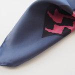 マッシモピオンボ|Mp Massimo Piombo|プリントシルクスカーフ|ネイビー×ピンクイメージ05