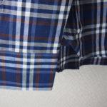 <ステファノコンティ>チェック柄コットンシャツ(ブルー)サブイメージ02