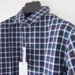 <ステファノコンティ>チェック柄コットンシャツ(グリーン×ブラウン)サブイメージ01