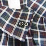 <ステファノコンティ>チェック柄コットンシャツ(グリーン×ブラウン)サブイメージ08