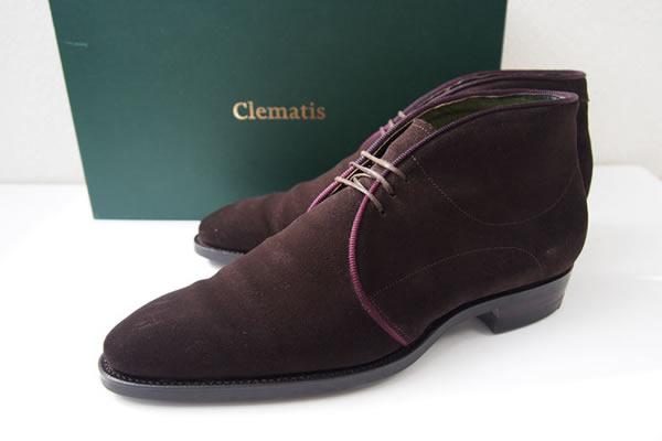 クレマチス|CLEMATIS|ダークブラウンスエードチャッカブーツ|Echinacea|6.0 イメージ01