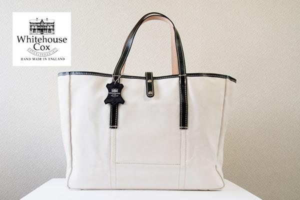 ホワイトハウスコックス|WHITEHOUSE COX|キャンバス×レザートートバッグイメージ01