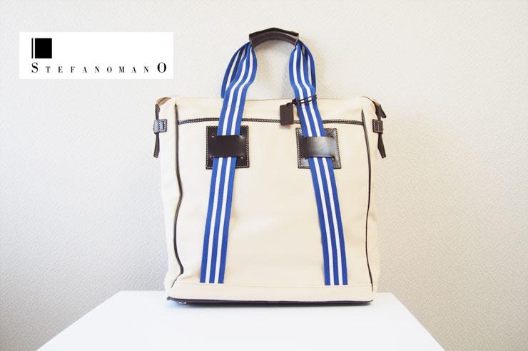 ステファノマーノ|STEFANO MANO|トゥモローランド別注|キャンバス×レザートートバッグイメージ01