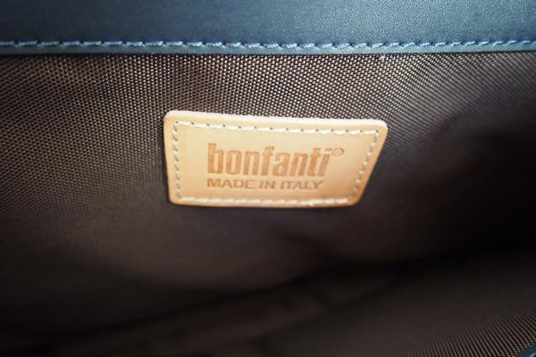 ボンファンティ|BONFANTI|ナイロン×レザーコンビ|2WAY被せトートバッグ|ブラウン×ネイビーイメージ016