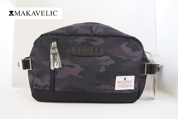 マキャベリック|MAKAVELIC|ボディバッグ|ウエストバッグ 3105-10301|TRUCKS WAIST BAG |SHDMUL/BK|カモフラ柄イメージ01