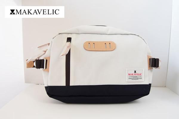 マキャベリック|MAKAVELIC|ボディバッグ|ウエストバッグ 3105-10301|TRUCKS WAIST BAG |ホワイト×ダークネイビーイメージ01