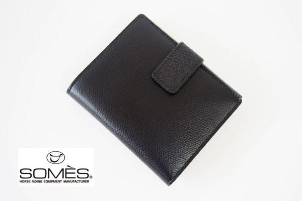 ソメスサドル|SOMES SADDLE|グレインレザー2つ折り財布|ブラックイメージ01