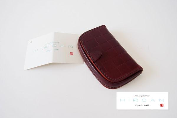 博庵|ヒロアン|HIROAN|水染めコードヴァン|変形馬蹄型コインケース|ボルドー メインイメージ