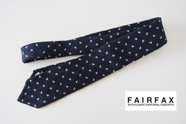 フェアファックス|FAIRFAX|コットン×リネンネクタイ|ネイビー メインイメージ