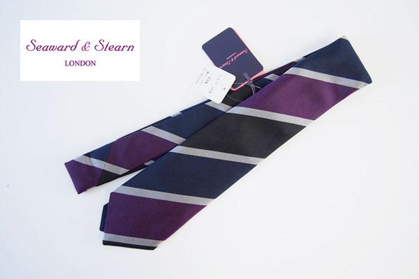 シーワード&スターン|Seaward & Steam|シルクレジメンタルネクタイイメージ01