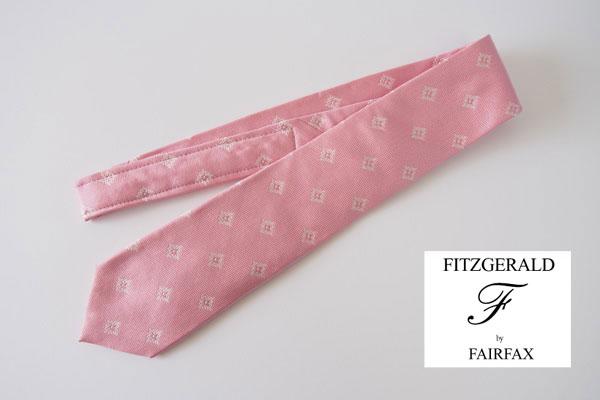 フィッツジェラルド バイ フェアファックス|FITZGERALD by FAIRFAX|シルクネクタイ|ピンクイメージ01