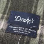 ドレイクス|Drake's|チェック柄マフラー|グリーン サブイメージ01