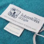 ジョンストンズ|Johnstons|カシミヤ 100%|マフラー|wa000016|Amulet|ブルーグリーンサブイメージ01