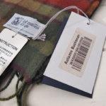 ジョンストンズ Johnstons カシミヤ 100% チェック柄マフラー WA000016 KU0596 AUTUMN BUCHANANサブイメージ09