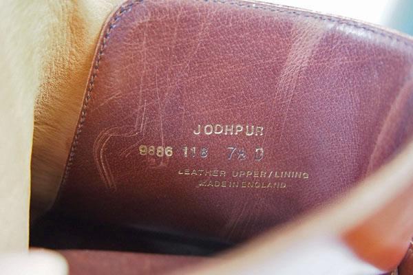 クロケット&ジョーンズ|Crockett & Jones|ジョッパーブーツ|ハンドグレードライン|JODHPURイメージ09