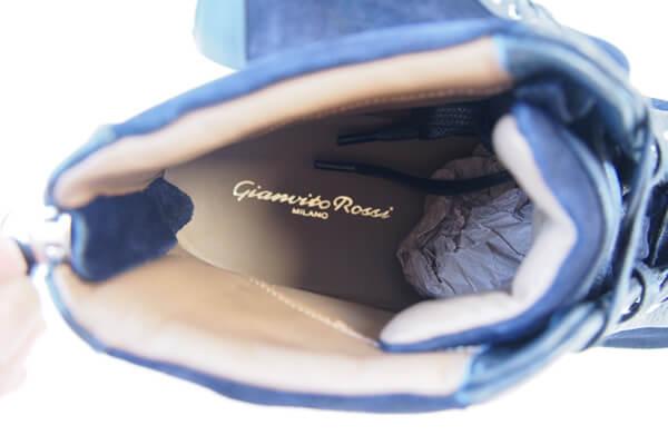 ジャンヴィト・ロッシ|GIANVITO ROSSI|スエード×グレインレザー|ハイカットスニーカー|ネイビー|40 イメージ011