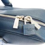セラピアン|Serapian Milano|2WAY ブリーフケース|ネイビー|Single briefcase with zip Evolution Ocean Blue イメージ011