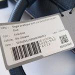 セラピアン|Serapian Milano|2WAY ブリーフケース|ネイビー|Single briefcase with zip Evolution Ocean Blue イメージ012