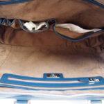 セラピアン|Serapian Milano|2WAY ブリーフケース|ネイビー|Single briefcase with zip Evolution Ocean Blue イメージ013