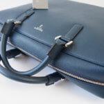 セラピアン|Serapian Milano|2WAY ブリーフケース|ネイビー|Single briefcase with zip Evolution Ocean Blue イメージ04
