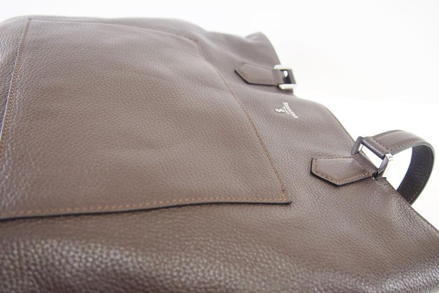 セラピアンミラノ|Serapian |カーフレザー クラッチ内臓 トートバッグ| Pebble/Gange SPEBGMLL6935-M34(ブラウン)イメージ010