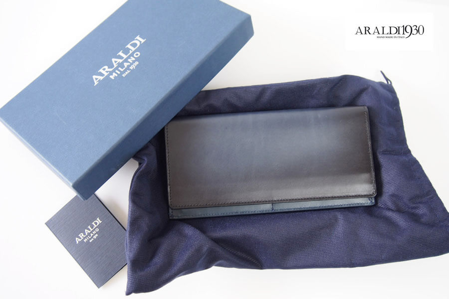 アラルディ|ARALDI 1930|ジップ小銭入れ付きロングウォレット|長財布|ネイビーイメージ01