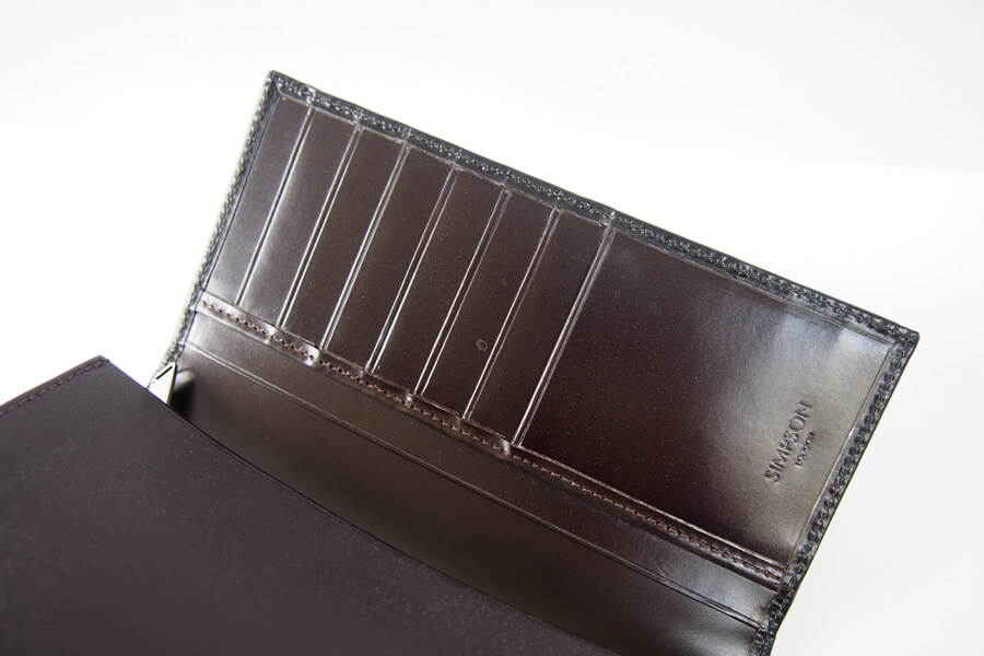 シンプソン ロンドン|SIMPSON LONDON|長財布|小銭入れ付き|ブライドルレザー|ブラック|W680 イメージ010
