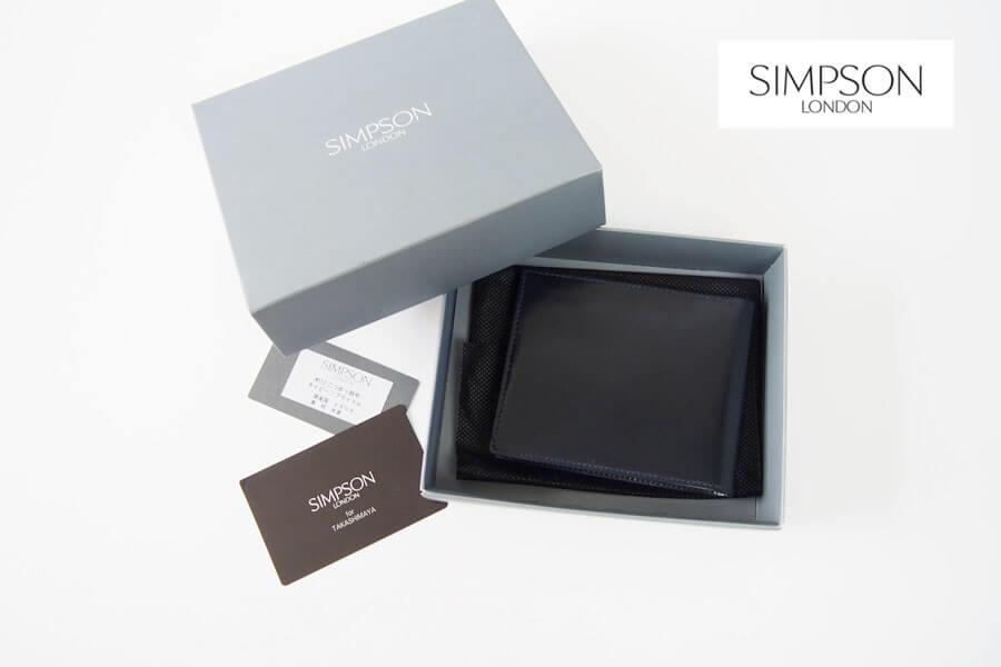 シンプソン ロンドン|SIMPSON LONDON|2つ折財布|小銭入れ付き|ブライドルレザー|ネイビー|W112 イメージ01