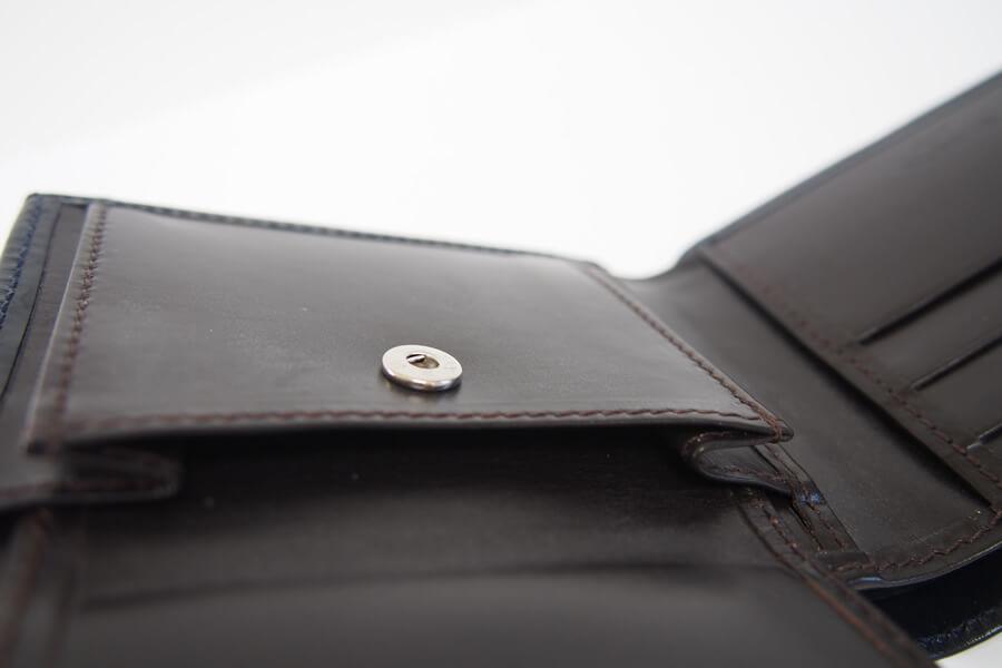 シンプソン ロンドン|SIMPSON LONDON|2つ折財布|小銭入れ付き|ブライドルレザー|ネイビー|W112 イメージ010