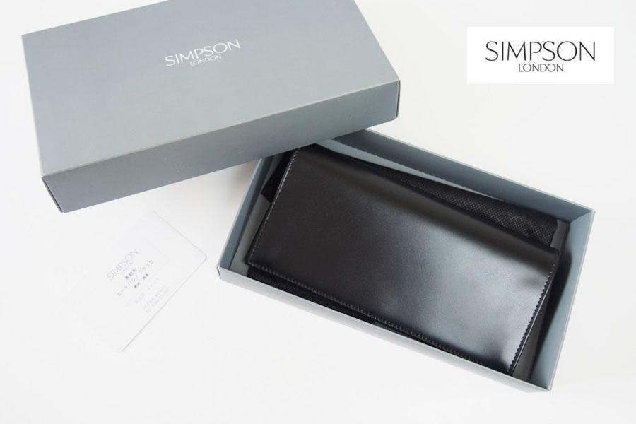 シンプソン ロンドン|SIMPSON LONDON|長財布|コードバン|ブラックイメージ01
