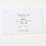 シンプソン ロンドン|SIMPSON LONDON|長財布|コードバン|ブラックイメージ02