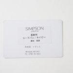 シンプソン ロンドン|SIMPSON LONDON|長財布|コードバン|ネイビーイメージ02