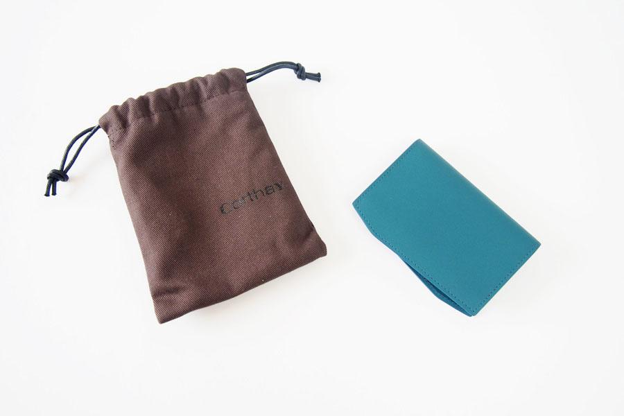 コルテ|Corthay|キャメルレザー|カードケース|ブルー イメージ01