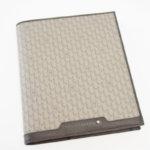 モンブラン|MONTBLANC|レザーケース付きノートブック|Montblanc 111114|Signature Mediumブラウンレザー&ファブリック手帳 イメージ03