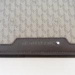 モンブラン|MONTBLANC|レザーケース付きノートブック|Montblanc 111114|Signature Mediumブラウンレザー&ファブリック手帳 イメージ04