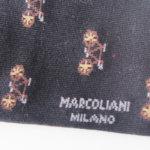 マリコリアーニ|marcoliani|クルー丈ピマコットンミニペイズリーソックス|ネイビー イメージ0