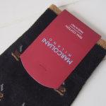 マリコリアーニ|marcoliani|カップ柄|クルー丈ソックス|ブラック イメージ02