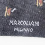 マリコリアーニ|marcoliani|カップ柄|クルー丈ソックス|ブラック イメージ04