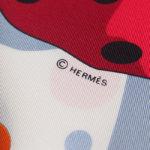 エルメス|HERMES|カレ90|i HOLA FLAMENCA!|オラ・フラメンカ|ホワイト|レッドイメージ05