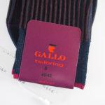 ガッロ|GALLO|クルー丈ビジネスソックス|ネイビー系 イメージ02