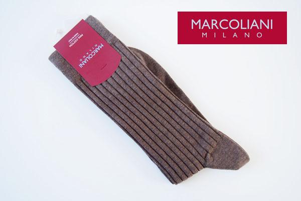 マリコリアーニ|marcoliani|クルー丈リブソックス|ブラウン イメージ01