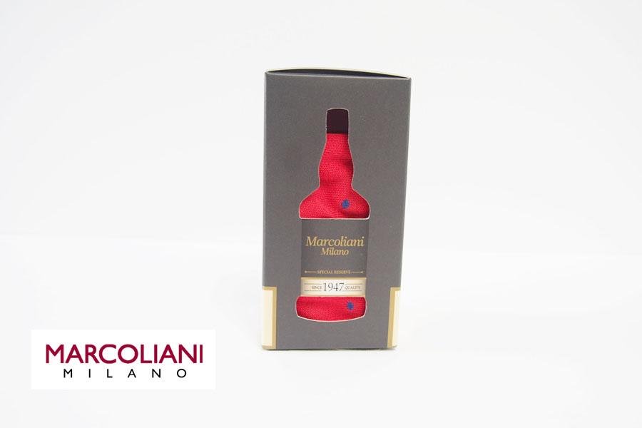マリコリアーニ|marcoliani|クルー丈ドット柄ソックス|レッド イメージ01